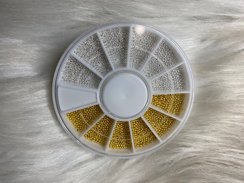 Silver & Gold Caviar Bead Wheel