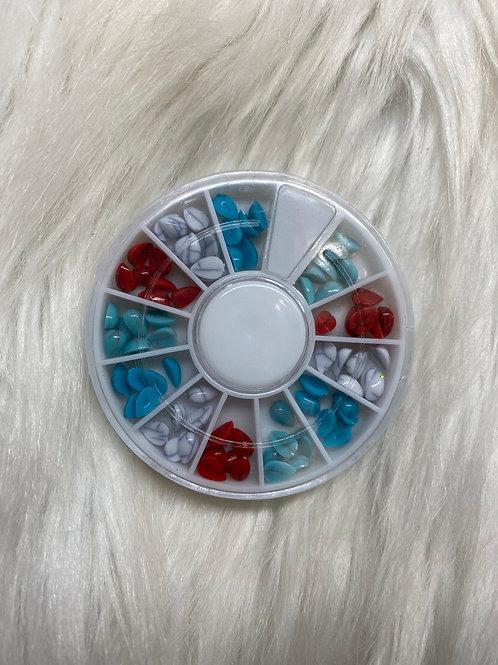 Turquoise Stone Gem Wheel