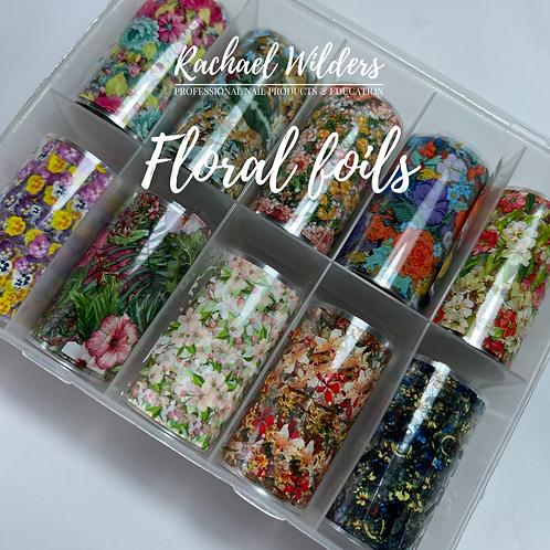 Floral nail foils