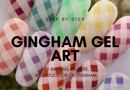 Step by step for a gingham gel design