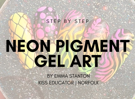 Step by step for a neon pigment gel design