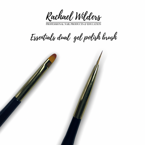 Essentials dual ended gel polish brush