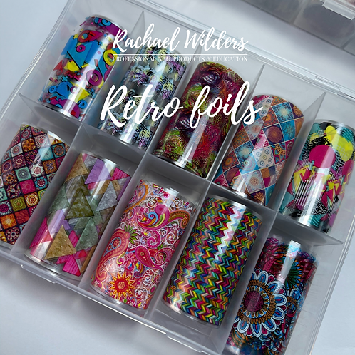 Retro nail foils