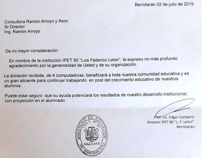 Difundiendo 5s en escuelas de la provincia de Córdoba.