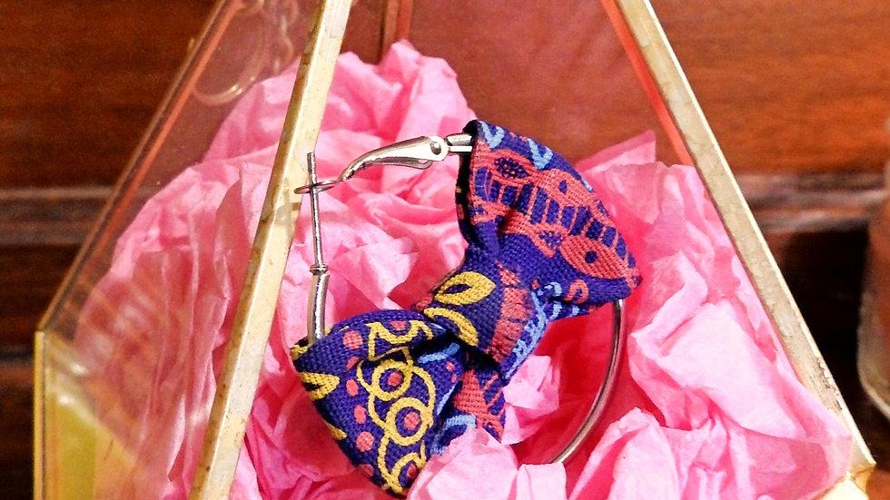 Afro-print earrings