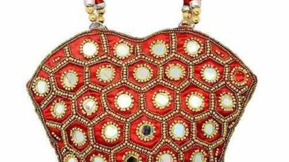 Indian Vintage Patch Work Boho Red Bag