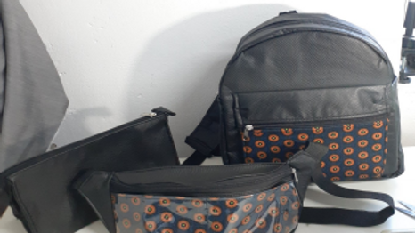 The Trio Combo (mini backpack, fanny-pack, toiletry pouch)