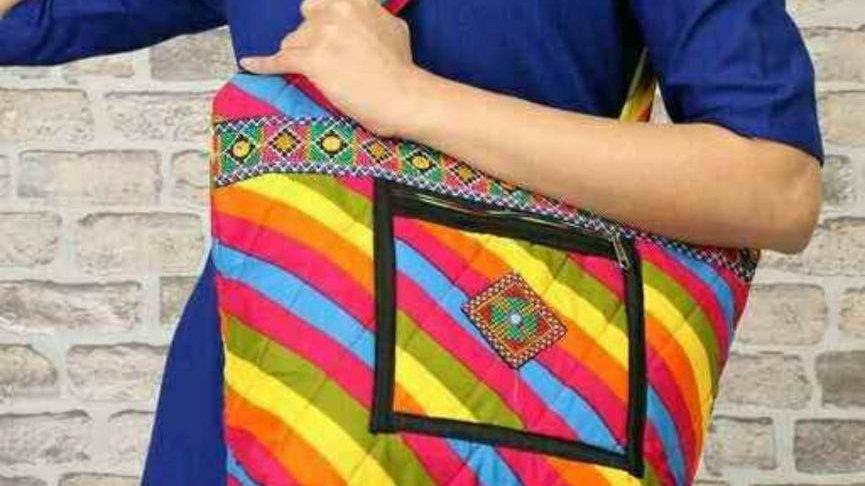 Multicolor Vintage Indian Shoulder Bag