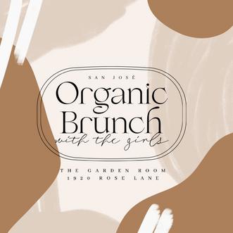 Organic Brunch Event Poster