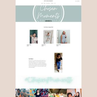 Chosen Moments Boutique - Website Refresh