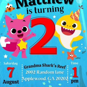 Baby Shark Birthday Party