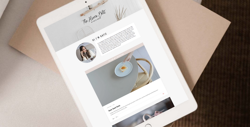 Home Edit - Blog Website Template