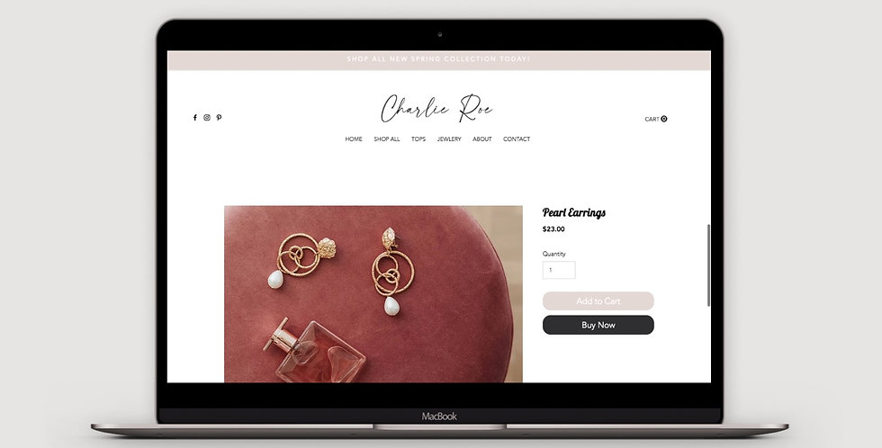 Charlie Roe - Store Website Template