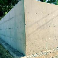 12' tall concrete retaining wall