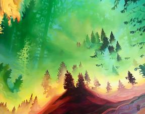 """""""Moiré Forest"""""""