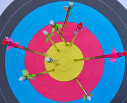 Junction Archers Arrows in a target face