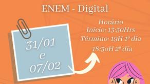 ENEM digital: primeiro dia de prova!