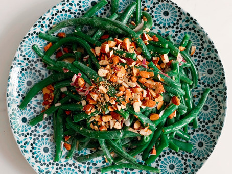 Best Ever! Green Beans With Toasted Almonds & French Shallots