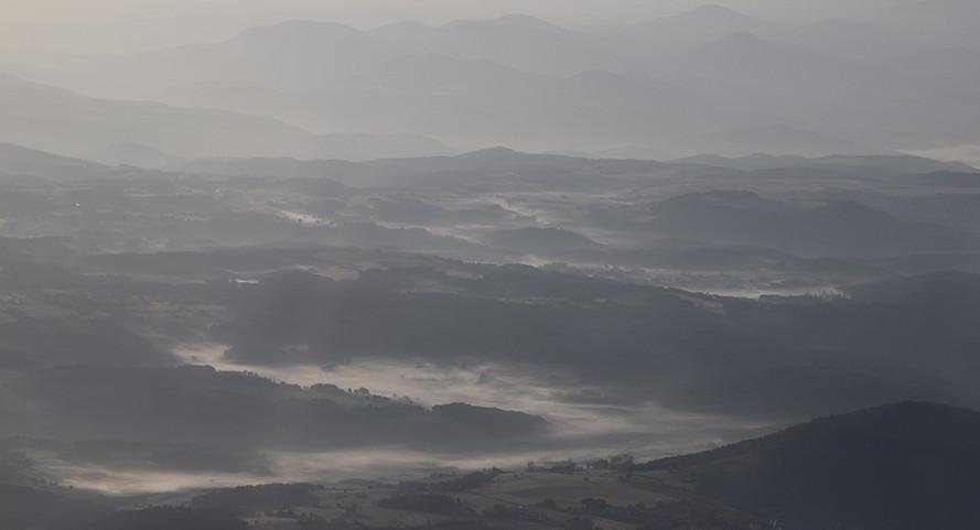Brumes matinales pendant une Navigation vers Alès