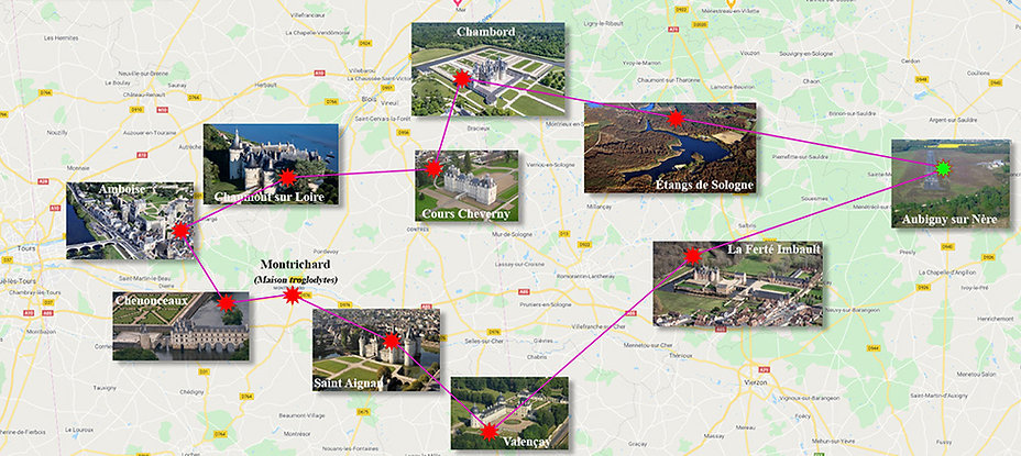 Plan Navigation Chateaux - Aubigny sur Nère