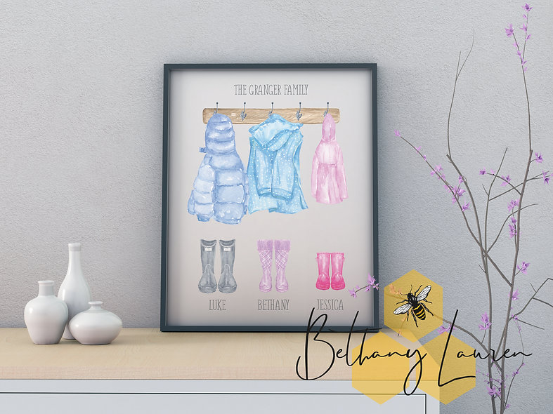 Personalised Hallway Giclee A4 Print