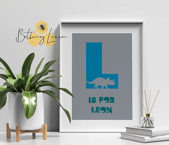 Personalised Dinosaur A4 Print
