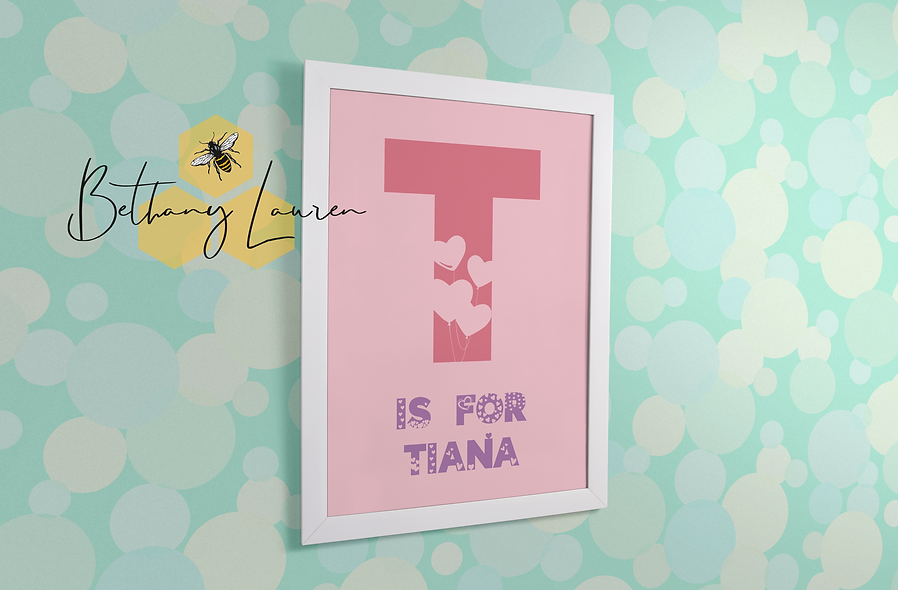Personalised Heart A4 Print