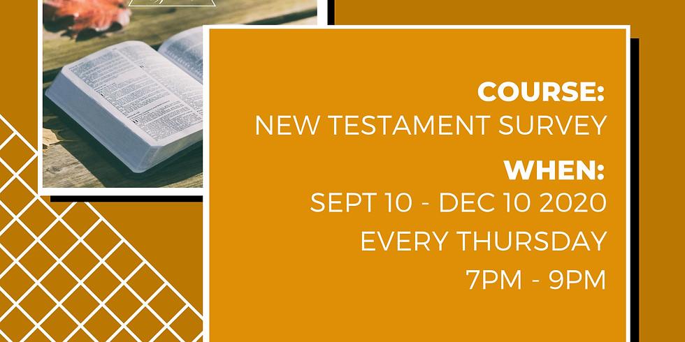 COAH X PLBC: New Testament Survey