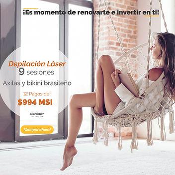 Promoción depilacion laser