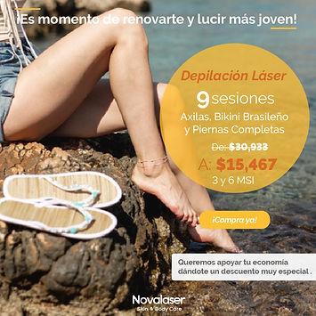 Promoción Depilación piernas