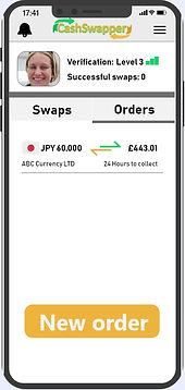 Cashswapper order dashboard