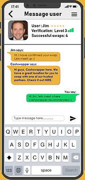Cashswapper message user
