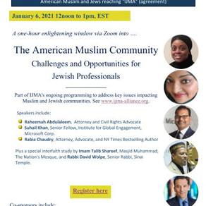 IJMA – Inter Jewish Muslim Alliance Webinar, January 6, 2021