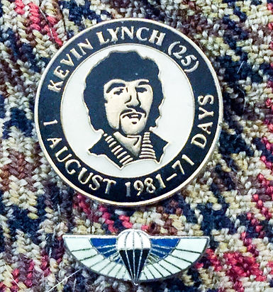 Kevin Lynch INLA with Special Air Service wings in respect