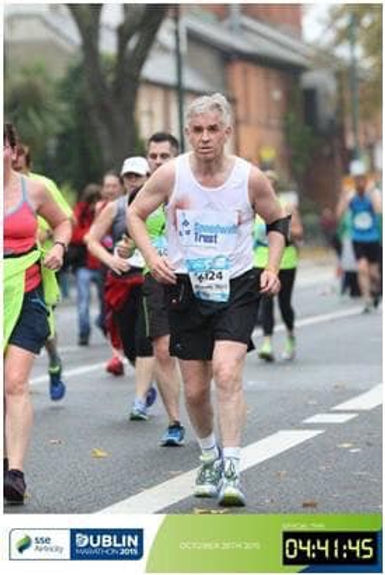 SSE Airtricity Dublin City Marathon. SAS wings awardee Clive Hathaway Travis zombie apocalypse