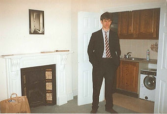 Clive Hathaway Travis in flat SW13 1990 before going on 25 year's undercover