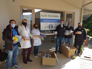 Consulado do Grêmio, da cidade de Barão, fez entrega de doações de EPI´s