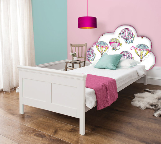 Childrens 'Beautiful Baloons' cloud headboard