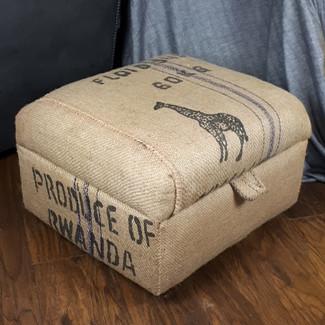 Coffe sack storage stool/ottoman