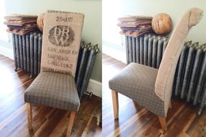 Coffee sack dining chairs