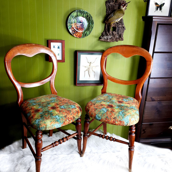 Antique balloon back chairs
