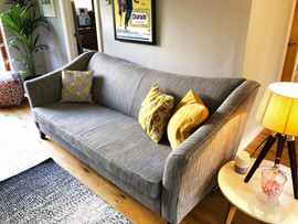 Herringbone sofa