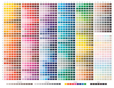 Beastly&Beautiful colour chart.