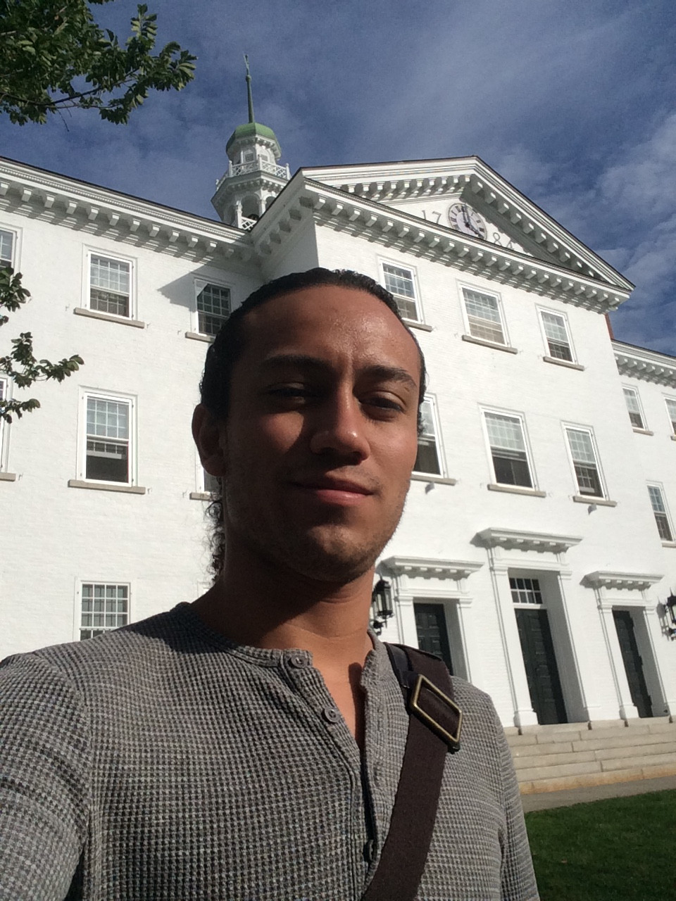 Rafael in front of Dartmouth Hall