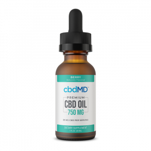 cbdMD Tinctures - 750mg - Berry