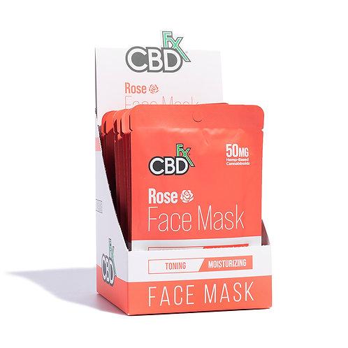 CBDfx Face Mask – 50mg – 20pk - Rose