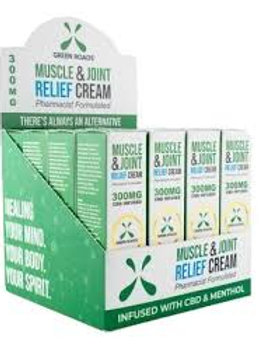 GREEN ROADS WORLD CBD Muscle & Joint Cream 300mg
