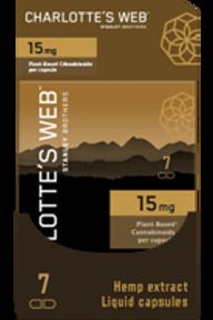 CHARLOTTE'S WEB CBD OIL LIQUID CAPSULES - 7ct - 15mg