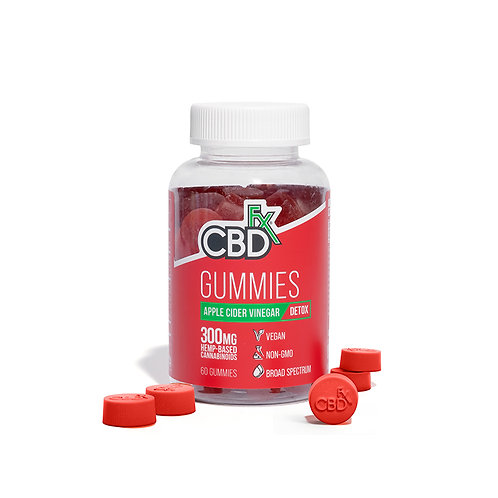 CBDfx Hemp Gummy Bears – 300mg - Apple Cider Vinegar