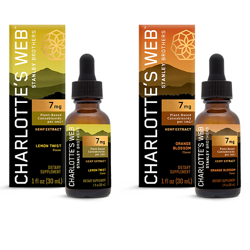 CHARLOTTE'S WEB Hemp Extract Oil – Citrus Bundle – 7mg – 30ml